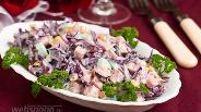 Фото рецепта Салат из краснокочанной капусты с кукурузой