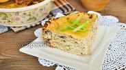 Фото рецепта Блинный пирог с курицей и индейкой