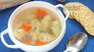 Фото рецепта Суп куриный с клецками