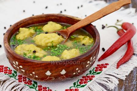 Суп с галушками украинский