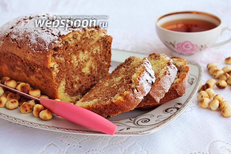 Фото Двухцветный кекс с фундуком
