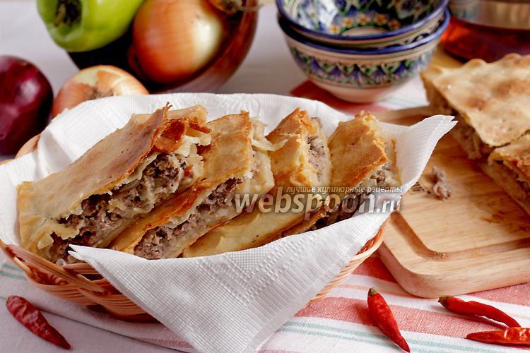 Фото Пирог с мясом на постном тесте
