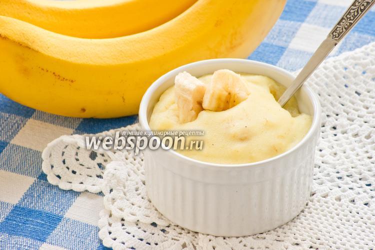 Фото Манная каша с бананом
