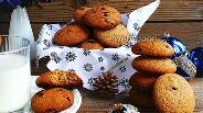 Фото рецепта Овсяно-ржаное печенье с клюквой
