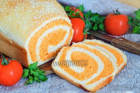 Полосатый томатно-пшеничный хлеб