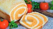 Фото рецепта Полосатый томатно-пшеничный хлеб