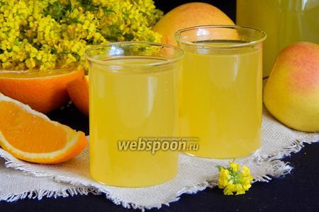Апельсиново-яблочный компот