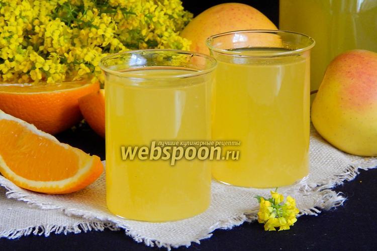 Фото Апельсиново-яблочный компот
