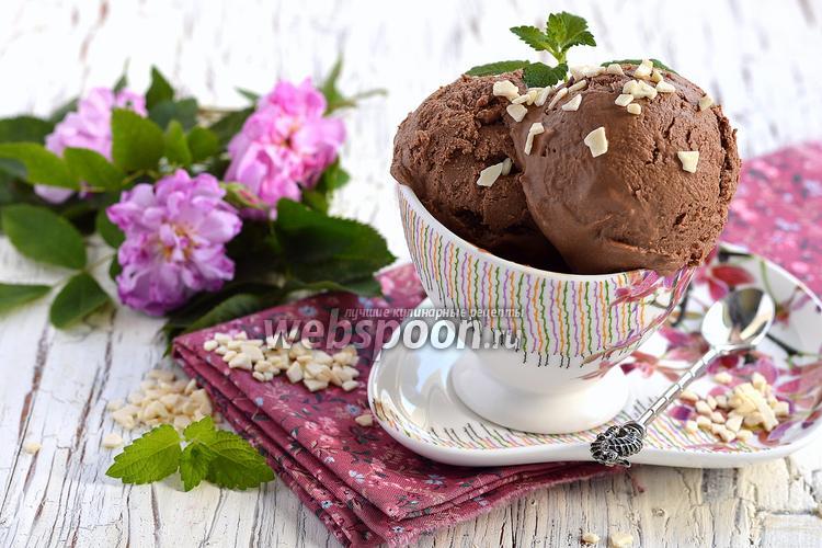 Фото Шоколадное мороженое