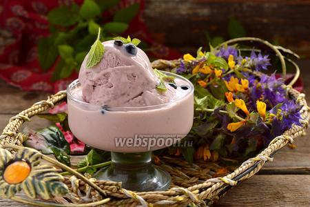 Сливочное смородиновое мороженое
