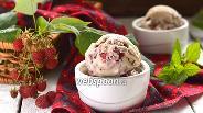 Фото рецепта Мороженое «Малина в халве»