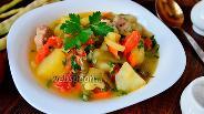 Фото рецепта Рагу с мясом, картофелем, фасолью и помидорами