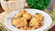 Фото рецепта Филе трески, тушёное с белой фасолью