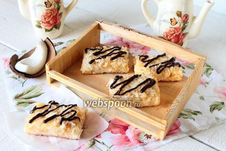 Кокосовое печенье с джемом