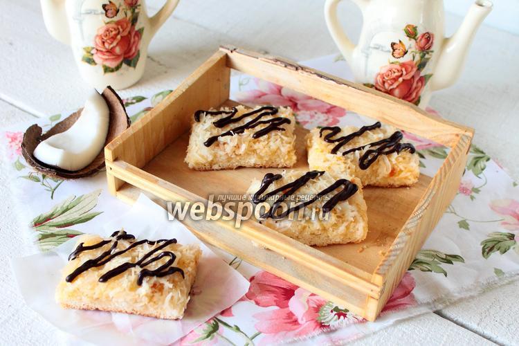 Фото Кокосовое печенье с джемом