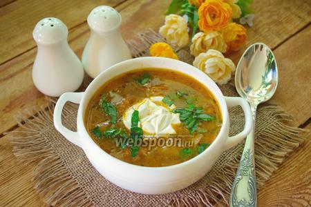 Чехословацкий суп с жареной капустой