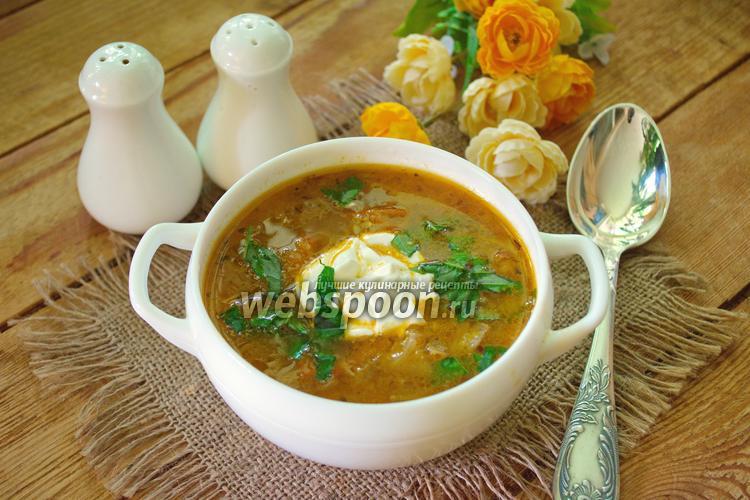 Фото Чехословацкий суп с жареной капустой