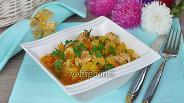 Фото рецепта Овощное рагу с индейкой и патиссонами в мультиварке