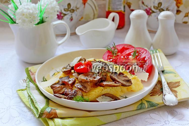 Фото Полента с грибами