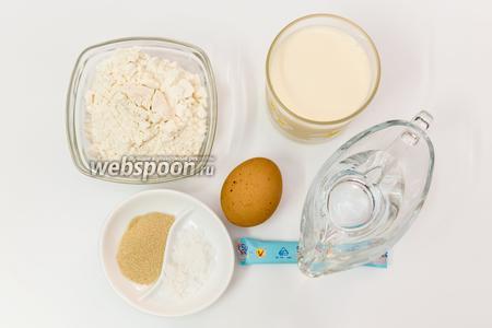Для приготовления нам понадобятся: оливковое масло, мука, соль, сахар, дрожжи, молоко, вода, яйца, сливочное масло, кунжут.