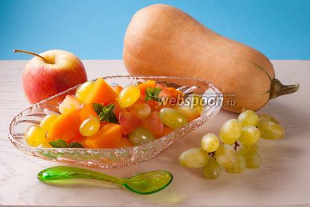 Десерт из яблок с тыквой в микроволновке