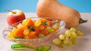 Фото рецепта Десерт из яблок с тыквой в микроволновке