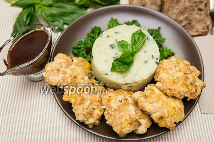 Фото Рубленые куриные котлеты с кабачком и сыром