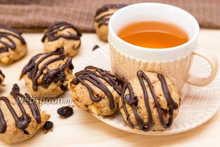 Арахисовое печенье с изюмом