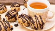 Фото рецепта Арахисовое печенье с изюмом