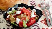 Фото рецепта Овощной салат с баклажанами и брынзой