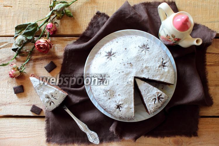 Фото Шоколадно-банановый пирог в мультиварке