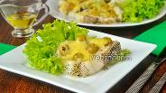 Фото рецепта Макрурус запечённый с оливками и сыром