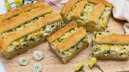 Фото рецепта Пирог с луком, рисом и яйцом на творожном тесте