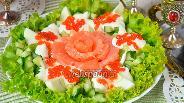 Фото рецепта Салат с красной рыбой и икрой