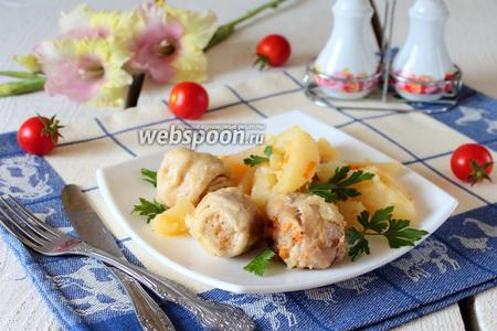 Штрудели с курицей и картошкой в мультиварке