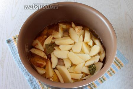 Налейте в чашу воды, примерно на 1 см выше картофеля.