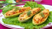 Фото рецепта Кабачки фаршированные курицей с овощами