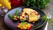 Фото рецепта Зубатка под перечно-сырной шубкой