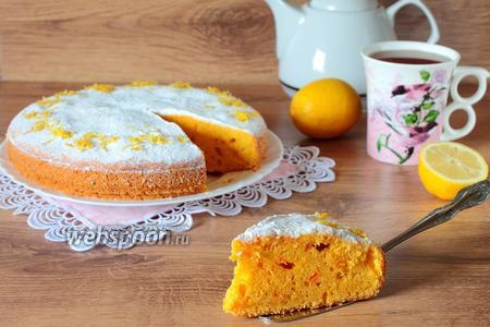 Лимонно-морковный пирог
