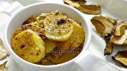 Фото рецепта Картофель запечёный в сметанно-грибном соусе
