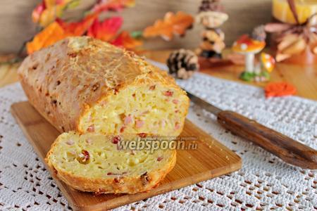Сырный хлеб с ветчиной