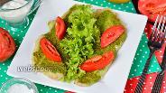 Фото рецепта Минтай запечённый под зелёным соусом