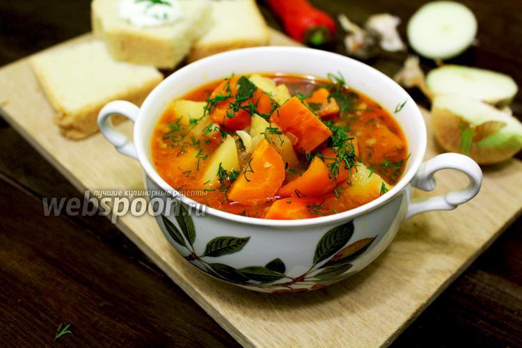 Фото Суп с картофелем и морковью в мультиварке