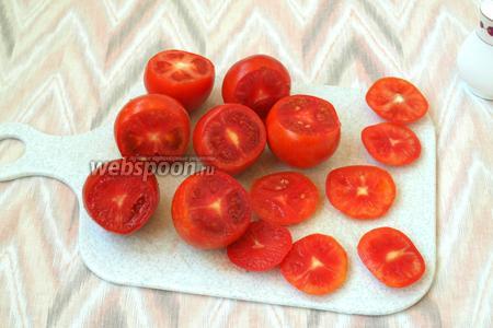 У помидоров срезать верхушку.