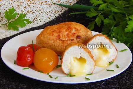 Зразы куриные с сыром Бри и яйцом