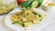 Фото рецепта Салат картофельный с солёными груздями