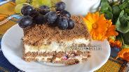 Фото рецепта Шоколадный торт из затяжного печенья с бананами