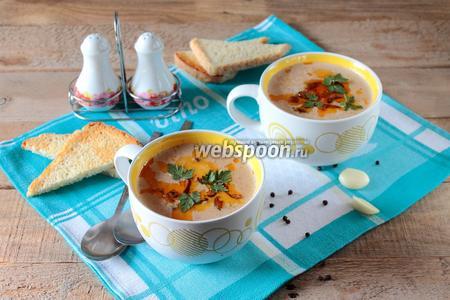 Суп-пюре из кабачка с рыжиками
