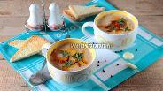 Фото рецепта Суп-пюре из кабачка с рыжиками