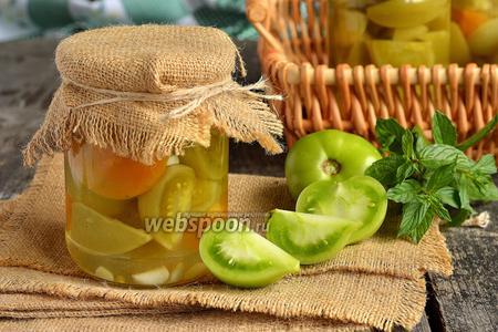 Маринованные зелёные помидоры на зиму дольками